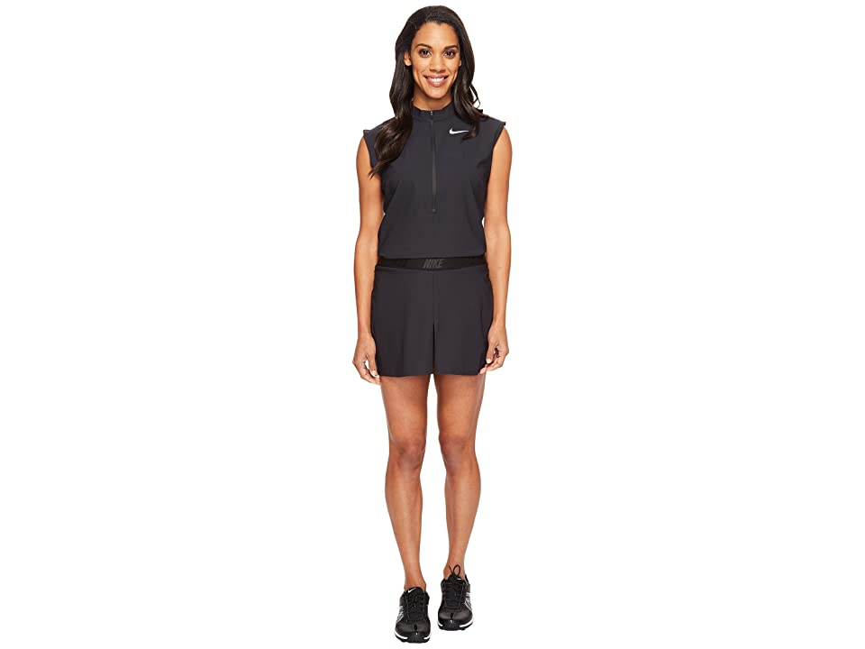 Nike Golf Woven Romper (Black/Flat Silver) Women