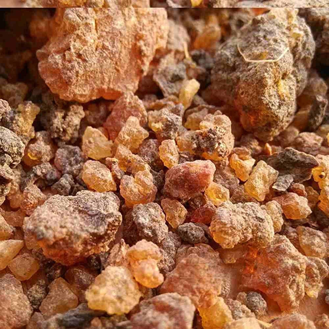 リハーサル操縦する解読するミルラ樹脂 – 100%純オーガニック乳香樹脂 – 有機没薬 – 0.22ポンド(100 g)Kenya Myrrh Resin – Earthwise Aromatics