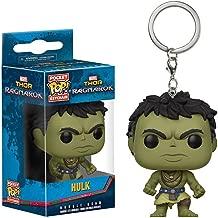 Funko Hulk [Casual] Pocket POP! x Thor - Ragnarok Mini-Figural Keychain + 1 Official Marvel Trading Card Bundle [21772]