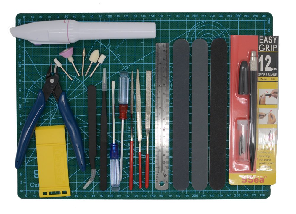 Gundam Modeler Builders Tools Craft Set Kit 16 PCS For Professional Bendai Hobby Model Assemble Building: Amazon.es: Bricolaje y herramientas