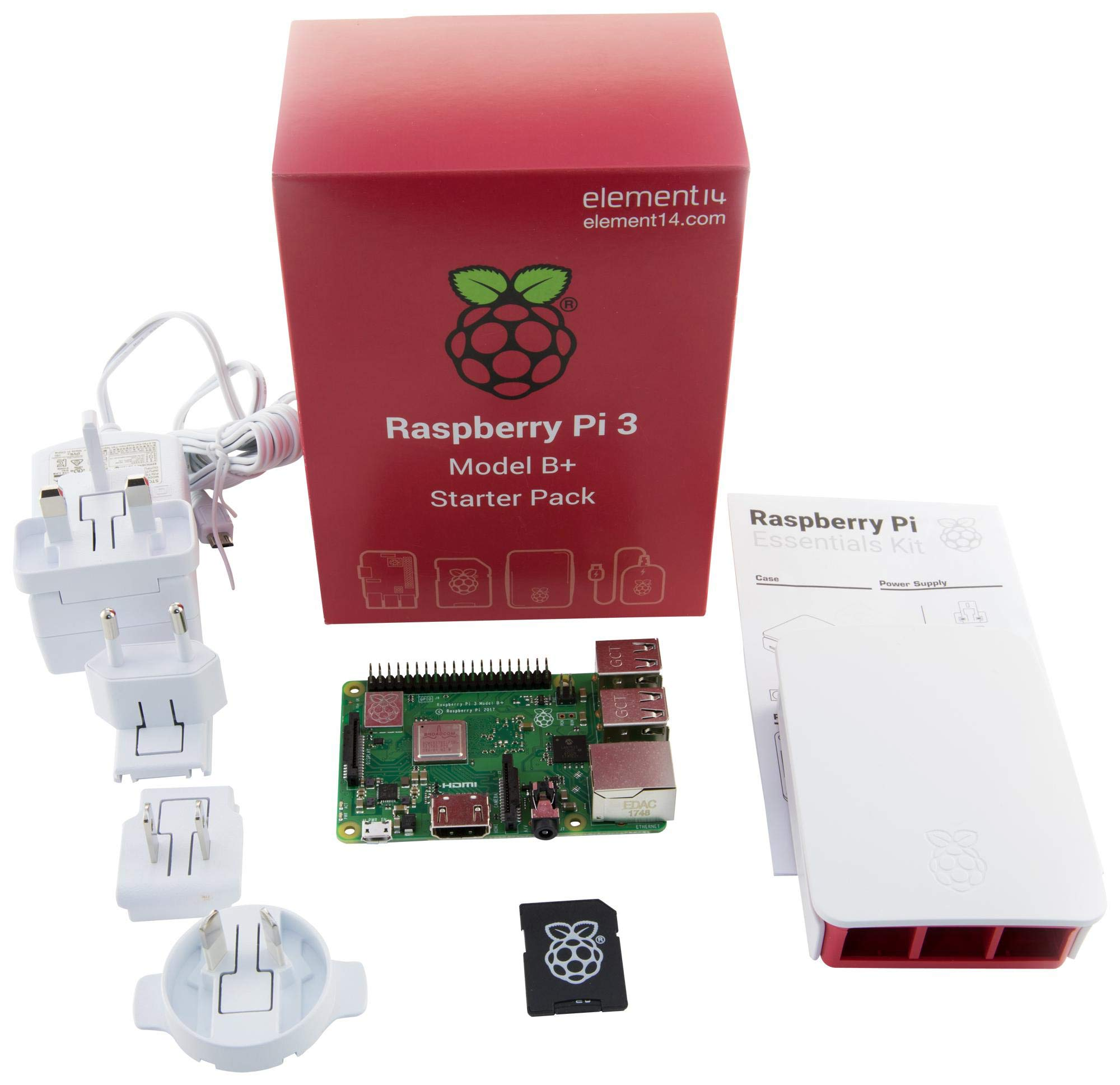 Element Raspberry Pi 3 Model B+ - Kit de iniciación Completo con ...
