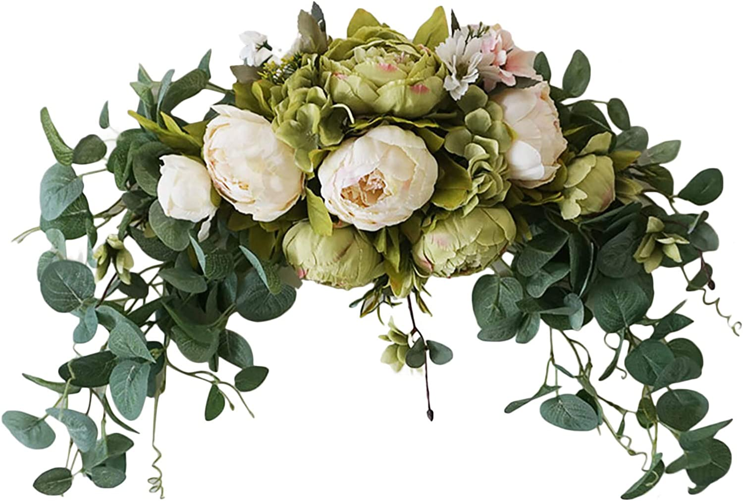Translated Goosacyon Artificial Peony Flower Swag Wedding Arch 29 Animer and price revision Flo Inch