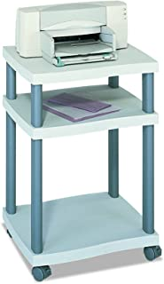 Safco Products 1860GR Wave Desk Side Printer Machine Stand, Light Gray