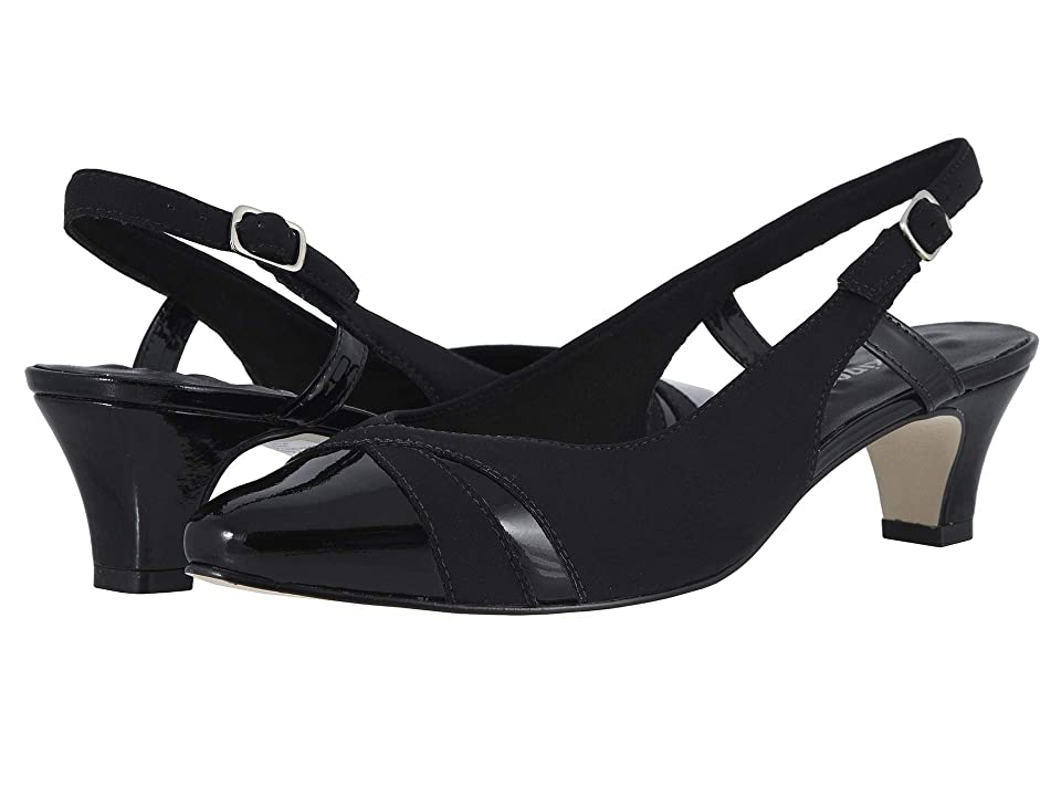 Walking Cradles Intrigue (Black Micro/Patent) Women