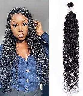 Maxine 10A Brazilian Water Wave Hair Bundles Wet and Wavy Human Hair 1Bundle 100% Virgin Remy Human Hair Weave 22 inch