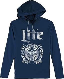 Miller Lite Hooded Tee Shirt - Long Sleeve Hooded Miller Beer Shirt
