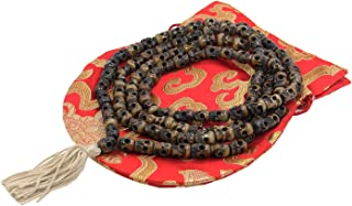 ~Tibetan Yak Bone Yogi 108 Beads Dark Skull Mala~