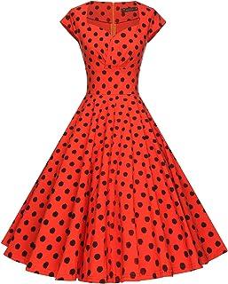 0213a9e3787 GownTown Womens Dresses Party Dresses 1950s Vintage Dresses Swing Stretchy  Dresses