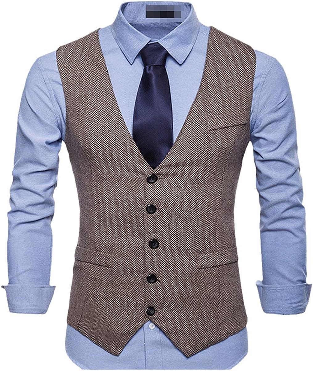 Fashion suit vest men's formal vest herringbone vest fitness sleeveless jacket wedding vest