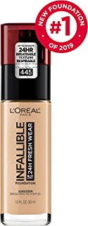 L'Oréal Paris Makeup Infallible up to 24HR Fresh Wear Liquid Longwear Foundation, Lightweight, Breathable, Natural Matte Finish, Medium-Full Coverage, Sweat & Transfer Resistant, Vanilla, 1 fl. oz.