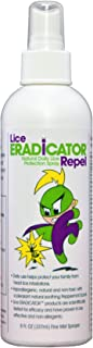Lice ERADICATOR Repel Lice Repellent Spray for Daily Prevention and Protection/Natural, Non-Toxic, Homeopathic, Peppermint Formula / 8 Ounce Bottle