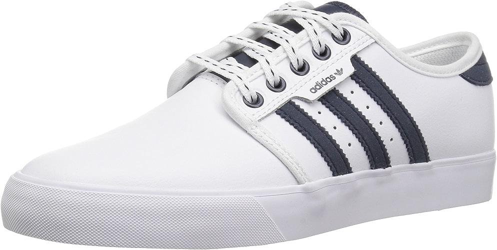 Adidas Originals Unisex Seeley Running chaussures, blanc Collegiate Navy Gum, 3 M US Little Kid