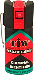 Spray De Défense Tiw Farb-Gel 40 Ml Version Clapet Ou Clip Ceinture Nouvelle Version (Version Clip Ceinture)