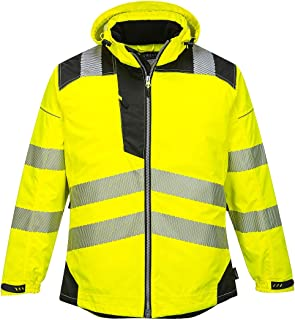 PW3 Hi-Vis Winter Jacket Work Safety Protective Reflective Waterproof Coat ANSI 3