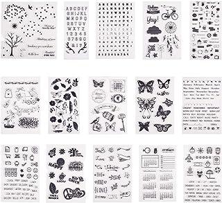 PandaHall Elite Transparente Sello de Silicona, para Album de Recortes/Album de Fotos Decorativo, Hojas de Sello,10~21.5x10~20cm