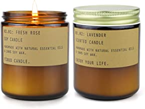 Candle, Scented Candles Gift Sets for Women and Men, French Cade Lavender, Goji Tarocco Orange, Persimmon & Copal, Soy Wax...