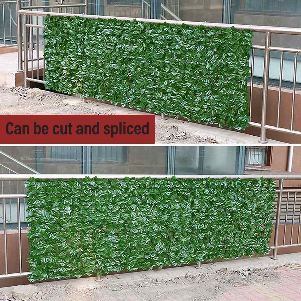 Pantalla De Privacidad Pared De La Planta Artificial Pantalla De Valla De Privacidad Hoja De Poliéster Revestimiento De Plástico Impermeable Respirable Denso Balcón, Jardín, Decoración De Terrazas: Amazon.es: Hogar