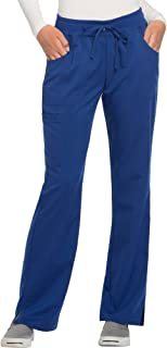 Women's Premium Rayon Drawstring Scrub Pants (XX-Large, Electric Blue)