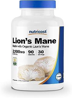 Nutricost Organic Lion's Mane Mushroom Capsules 2100mg, 30 Servings - Certified CCOF Organic, Vegan, Gluten Free, 700mg Pe...
