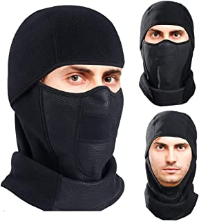 Omenex Balaclava Ski Face Mask Cover Windproof Men Women Warm Hoodie Winter Masks Thermal Fleece Fabric with Breathable Vents for Cold Cycling Skiing Motorcycle Snowboard Tactical Hunting Running