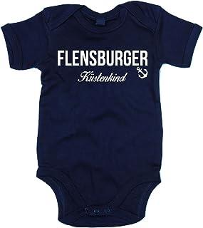 shirtdepartment Baby Body Flensburger Küstenkind Bodysuit Strampler Flensburg Küste Meer See