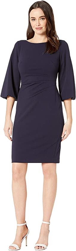130H Luxe Tech Crepe Louisa Elbow Sleeve Day Dress