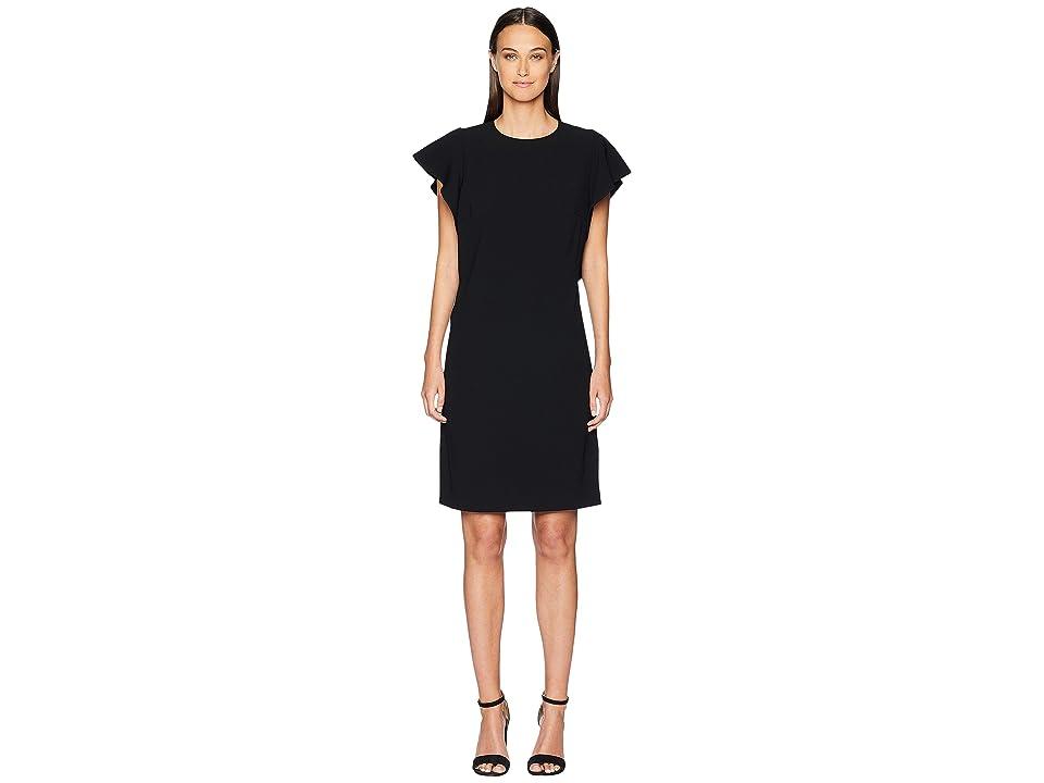 ESCADA Diat Ruffle Side Short Sleeve Dress (Black) Women