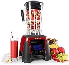Klarstein Herakles 8G batidora licuadora de vaso (1.800 W potencia, 38.000 rpm, 50/60 Hz, 2 litros de capacidad, 6 cuchillas de acero inoxidable, pantalla LCD) - rojo