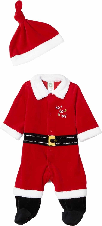 Little Me Velour Santa Suit