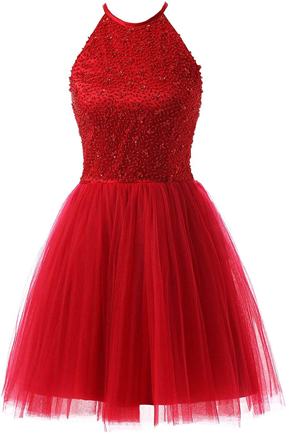 Beilite Women's Beads Short Homecoming Dresses Cocktail Party Gown