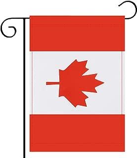 Garden Flag Canada Canadian Garden Flag,Garden Decoration Flag,Indoor and Outdoor Flags,Celebration Parade Flags,Anniversary Celebration, National Day,Double-Sided.