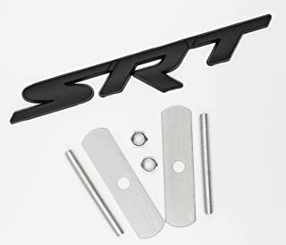 BWONE for Srt Grille Grill emblem 3d metal apply to for Dodge Jeep GrandCherokee Charger (Black)