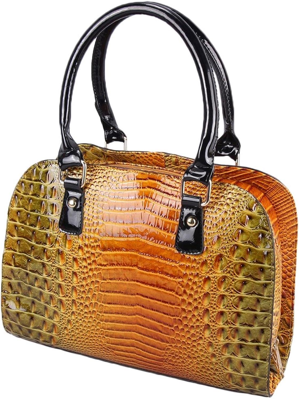 gold Crocodile Vegan Leather Bag