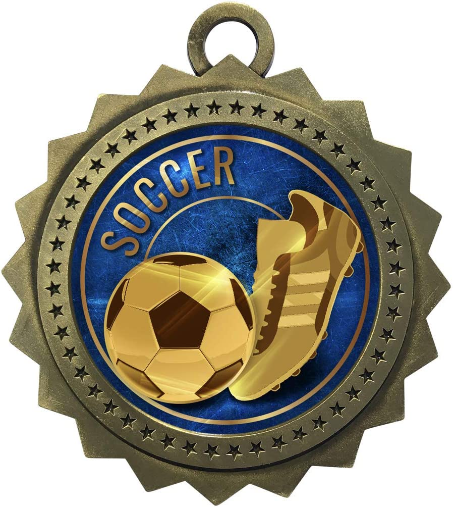Express Medals 1 Elegant to 50 Packs Trophy Soccer Award Gold with Medal Indianapolis Mall