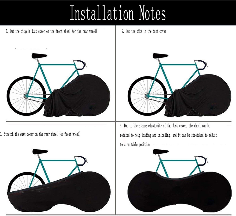Coperta Mountain Bike Bag Bagagli Adatto a 26-28 Pollici Pneumatici Elastico Pioggia e Protezione UV Creativo Skull Tauzveok Bicycle Wheel Cover