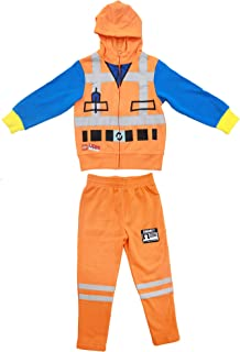 LEGO Movie Emmet Orange Boys Two-Piece Zip-Up Costume Hoodie & Sweatpants Set