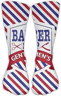 Men Women Vintage Emblem Of Barber Shop Flag Novelty Sport Stocking Socks Athletic High Sock Gift Outdoor