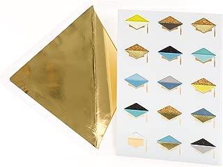 Hallmark Signature Money Holder or Gift Card Holder Graduation Card (Glitter Foil Graduation Caps)