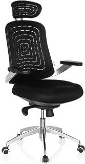 hjh OFFICE Silla de Oficina, Rejilla sintética, Negro