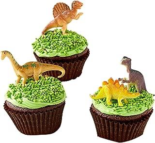 Mini Dinosaurs Toys Cupcake Toppers, Dinosaur Cake Decoration Figures For Dinosaur Theme Parties