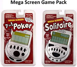 Mega Screen 7 in 1 Poker and Solitaire Handheld Game Pack