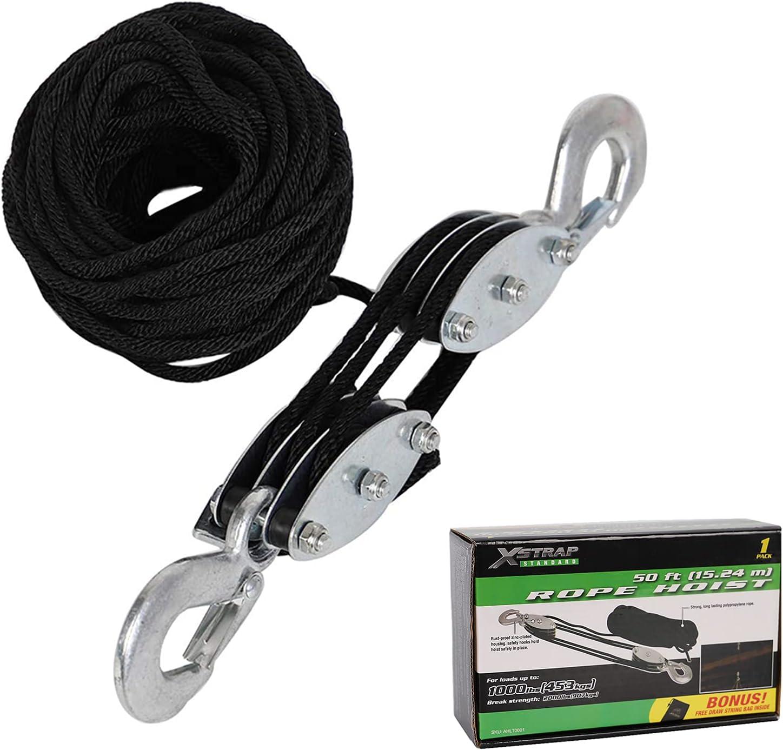 Sales XSTRAP Max 88% OFF Heavy-Duty 2 000 LB Breaking FT Hoist Rope 50 B Strength
