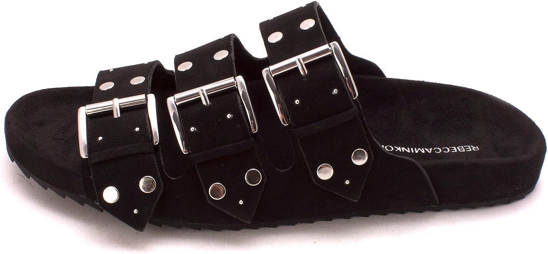 Rebecca Minkoff Womens Tania Open Toe Casual Slide Sandals