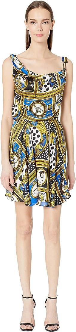 Woven Vintage Print Dress