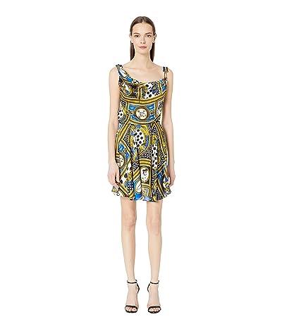 Versus Versace Woven Vintage Print Dress (Cobalt Print) Women
