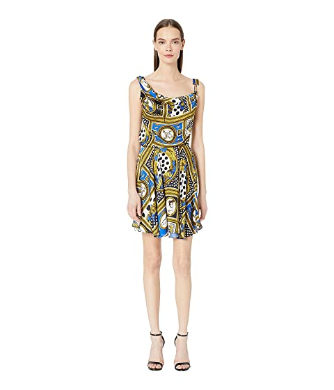 Versus Versace Woven Vintage Print Dress