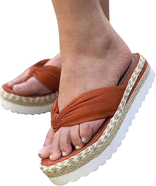 cheap ZLZNX Sandals A surprise price is realized Women Espadrille Slippers Platform Summer Toe Open