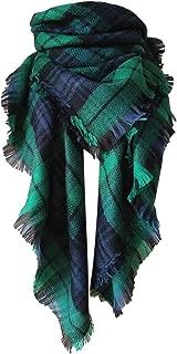 Winter Plaid Blanket Scarf Tassel Fall Scarfs for Women Oversized Tartan Wrap Shawl Scarves