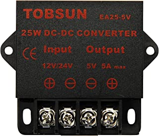 BINZET DC 12V 24V to 5V 5A Converter Step Down Regulator 25W 5V Regulated Power Supplies Transformer Converter