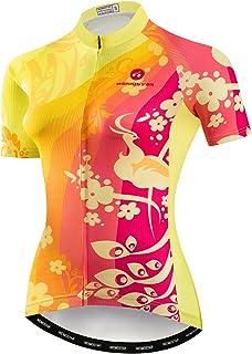 Weimostar Women s Cycling Jersey Bike Shirts Short Sleeve Ladies Bicycle  Clothing MTB Cycle Jacket 66e24e5bd